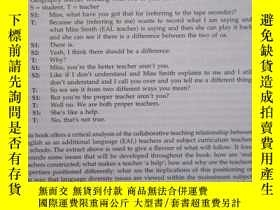 二手書博民逛書店Teacher罕見Collaboration and Talk