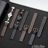 手錶帶手錶帶代用天梭CK浪琴DW天王依波超薄柔軟防水男女配件蝴蝶扣  color shop