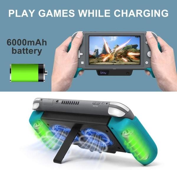 Switch Lite主機散熱充電握把NS Switch拉伸外掛電池包手把帶支架