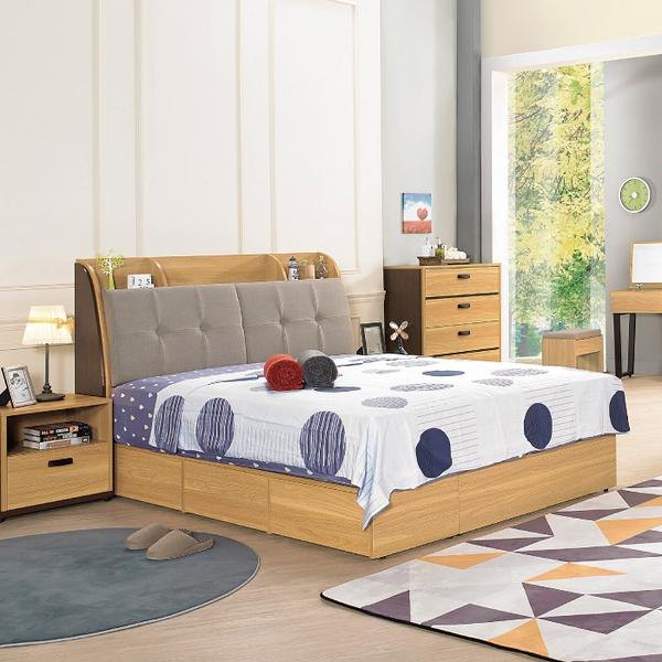 床組 5尺 床箱+床底 費德勒 389-3W 愛莎家居