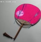 日式團扇和風扇子中國風夏天紙扇...