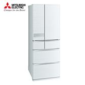 [MITSUBISHI 三菱]605公升 日本原裝六門變頻冰箱-絹絲白 MR-JX61C-W-C