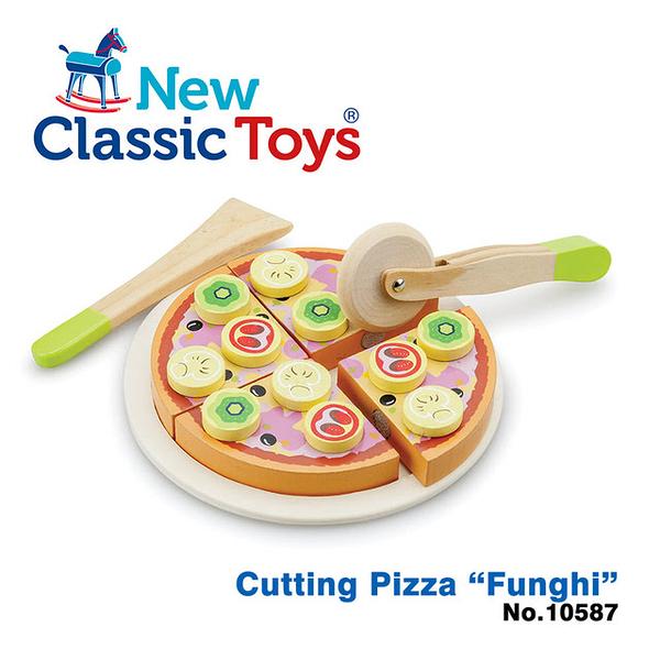【荷蘭 New Classic Toys】10587 鄉村蘑菇比薩切切樂 Cutting Pizza 家家酒玩具