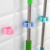 ✭慢思行✭【P616】免打孔拖把掛架 無痕 透明吸盤  掃把架  掃把收納架  晾曬掛勾 多功能