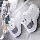小白鞋女2019夏款透氣夏季運動網面百搭新款鞋子潮鞋夏天白鞋