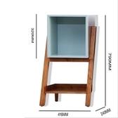 雜誌架雜誌櫃邊櫃簡約置物架客廳矮櫃書櫃北歐創意實木小書櫃現代格子櫃JD新年禮物