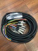 凱傑樂器 訊號傳遞 8對8 公尺 XLR 公 TO TS 母