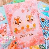 正版 迪士尼系列 櫻花祭 花栗鼠 奇奇蒂蒂 三層L型文件夾 收納夾 COCOS QQ049
