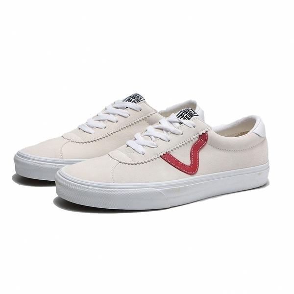 VANS 休閒鞋 板鞋 SPORT STYLE 73 米紅 基本 麂皮 男 (布魯克林) VN0A4BU6SOO