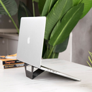 DesignNest FoldStand 超輕薄隱形筆電支架 11吋以上皆可用 酷炫灰