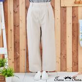 【Tiara Tiara】百貨同步新品aw 可愛鈕釦微刺繡棉麻長褲(米白/綠)