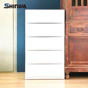 【nicegoods】日本製 伸和五層抽屜收納櫃-DIY典雅白
