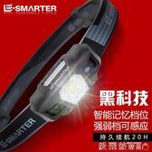 頭燈LED充電超亮感應迷你夜釣魚礦燈頭戴式手電筒 【老闆大折扣】