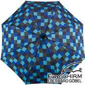 EuroSCHIRM 行走免提徒步傘 大(方格藍) W2H6-CWS1 輕量 健行