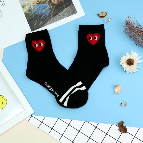 【正韓直送韓國襪子 表情愛心中筒襪 長襪 女襪 棉襪 禮物 愛心襪子 韓妞必備 哈囉喬伊 A61