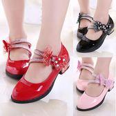 新款女童公主鞋 夏款時尚休閒高跟 LR1789【VIKI菈菈】