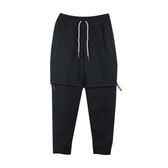 NIKE AS KYRIE M NK PANT HYBRID 男款黑色兩件式可拆棉質縮口長褲-NO.AJ3390010