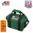 【AO COOLERS】酷冷軟式輕量保冷托特包-6罐型 -經典帆布CANVAS系列 森林綠 長效保冷