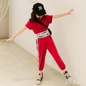 夏裝霸氣女童短袖套裝2020夏季新款兒童裝中大童洋氣休閒兩件套潮 yu12501『寶貝兒童裝』