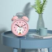 聲音超大鬧鈴小鬧鐘學生用可充電床頭鐘卡通兒童專用靜音時鐘表型 聖誕節全館免運