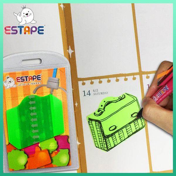 【ESTAPE】Memo造型隨手卡(綠色-公事包)