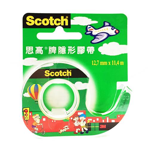 3M 思高牌 Scotch 可手撕隱形膠帶附膠台 NO.104-TW 1/2 12.7mm X 11.4m