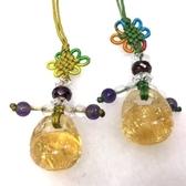 『晶鑽水晶』天然黃水晶招財吊飾~可愛木魚造型*小
