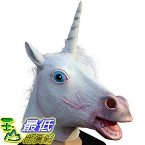[7美國直購] 派對頭套 CreepyParty Deluxe Novelty Halloween Costume Party Latex Animal Head Mask, Unicorn