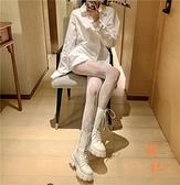 鏤空花藤蕾絲長襪女性感連腳褲襪打底褲美腿絲襪【橘社小鎮】