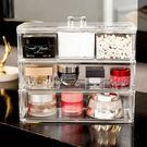 收納盒 (3格有蓋)高級壓克力彩妝收納盒【BSF003】收納女王
