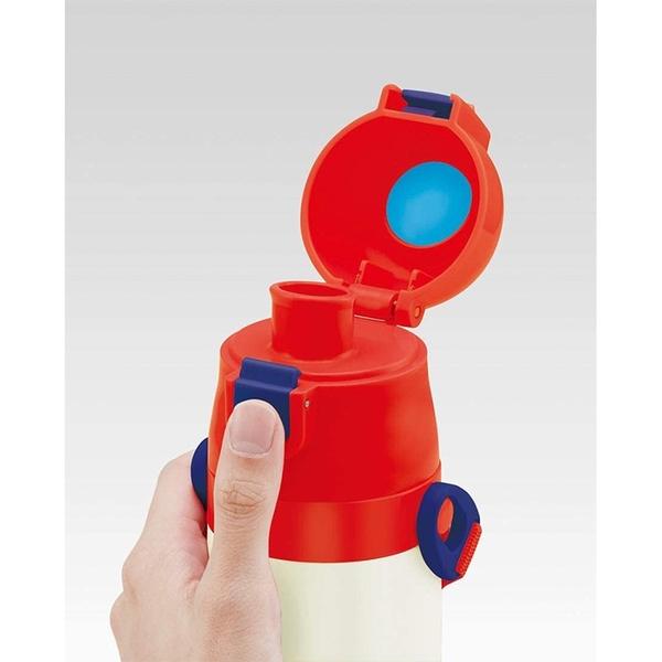 SKATER 超輕量不鏽鋼 一鍵式彈蓋 保冷兒童水壺 470ml SNOOPY 史努比數字 白_AT47637