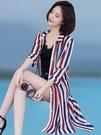 防曬衣女中長款2020夏季新款外搭披肩洋氣百搭仙女服外套雪紡開衫「時尚彩紅屋」