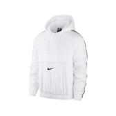 Nike 長袖T恤 NSW Swoosh Woven Jacket 白 黑 男款 風衣 連帽 運動休閒 【PUMP306】 CD0420-100