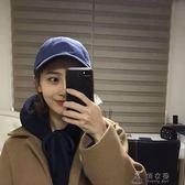 帽子女韓版潮純色軟頂棒球帽女夏天百搭學生街頭鴨舌帽男潮人  俏女孩