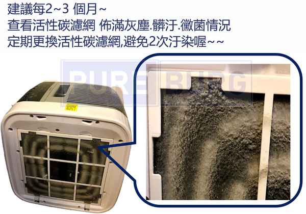 適用Honeywell HAP-801 HAP-801APTW HAP-802 HAP-802APTW 系列黑色活性碳濾網濾芯 (4片包裝)