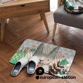 防滑墊/可愛兔卡通兒童地墊門墊浴室吸水腳墊【歐洲站】