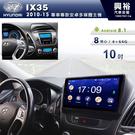 【專車專款】10~15年Hyundai IX35專用10吋螢幕安卓主機*聲控+藍芽+導航+安卓*8核心(倒車選配)