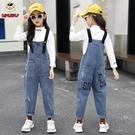 女童牛仔吊帶褲秋裝套裝新款兒童女孩洋氣牛仔褲中大童韓版褲子 【雙十二狂歡】
