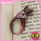JLNice 潔蘿包廂 免運費 復古立體粉鑽兔子戒指(造型戒指情人節交換物)