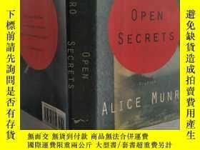 二手書博民逛書店愛麗絲·門羅罕見Open Secrets【精裝 毛邊】Y11617 Alice Munro Knopf 出版