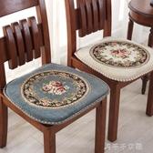 歐式加厚冬季餐椅墊毛絨通用椅子墊椅墊秋冬座墊可拆洗有綁帶坐墊 千千女鞋YXS