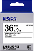 LK-7WBVN EPSON 標籤帶(白底黑字36mm) C53S657401
