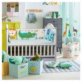 寶貝嬰兒床床圍ins風圍擋純棉拼接護圍防撞夏季  WD 聖誕節歡樂購