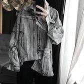 短句先生 港味潮男寬鬆韓版ulzzang時髦百搭個性襯衫長袖襯衣韓風