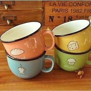 【發現。好貨】韓國生活雜貨 zakka雜貨 小清新暖暖早餐杯子 咖啡杯 童趣杯子 馬克杯 牛奶杯
