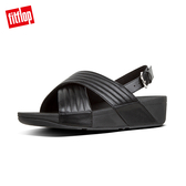 熱銷5折!【FitFlop】LULU PADDED BACK-STRAP SANDALS鋪棉造型後帶涼鞋-女(黑色)