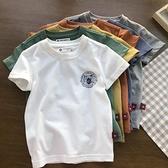 醇軟海島棉。虎頭植絨立體印。110-160男童純棉圓領短袖T恤 夏裝 幸福第一站