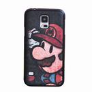 出清商品---88柑仔店~三星galaxy S5手機保護套 i9600復古卡通彩繪貼皮軟殼 全包硅膠套