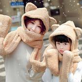 針織帽圍巾女冬季韓版女學生秋冬日系圍脖百搭新款加厚脖套女士帽子一體 雙12八七折