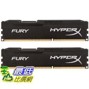 [104美國直購] Kingston HyperX FURY 16GB Kit (2x8GB) 1866MHz DDR3 CL10 DIMM - Black (HX318C10FBK2/16)